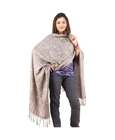 Weaved Hand Embroidered Reversible Scarf Stole 121