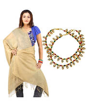 Buy Pure Kashmiri Stole n Get Brass Anklet Free