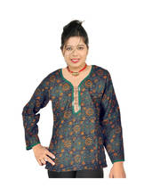 Designer Black Girls Indian Pure Cotton Kurti