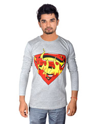 Drakeman Grey Casual Stylish tshirt DTS 162