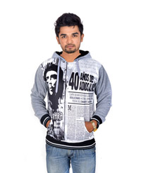 Drakeman White grey Casual Stylish Sweatshirts