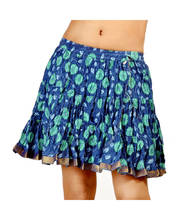 Ethnic Rajasthani Blue Floral Print Pure Cotton Mini Skirt 259