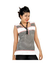 Exclusive Hand Block Design Black Cotton Kurti