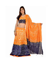Fashionable and Ethnic Mustard Cotton Lehenga Choli Set