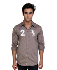 Jainez Dark Grey Emroidered Shirt