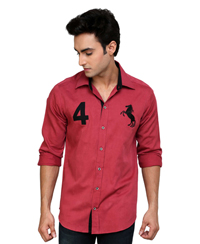 Jainez Fushia Slim Fit Shirt