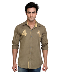 Jainez Olive Slim Fit Shirt