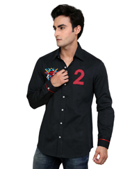 Jainez SP01 Black Slim Fit Shirt
