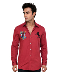 Jainez SP07 Fushia Slim Fit Shirt