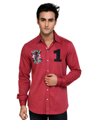 Jainez SP08 Fushia Slim Fit Shirt