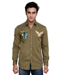 Jainez SP09 Olive Slim Fit Shirt