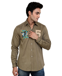 Jainez SP11 Olive Slim Fit Shirt
