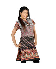 Jaipuri Designer Multi Print Black Cotton Top