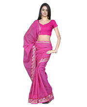 Kota Doria Cotton Resham Work Saree and Blouse 145