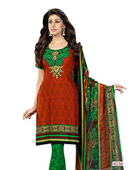 Red and Green Salwar Suit