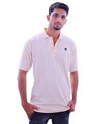 Rodeio Mens Cream Collared T-Shirt