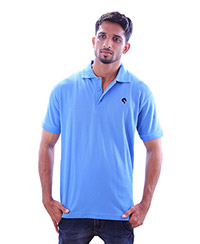 Rodeio Mens Sky Blue Collared T-Shirt