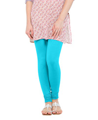 Softwear Aqua Blue Cotton-Lycra Leggings