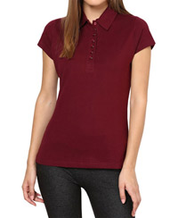 Softwear Bewitching Maroon 7-Button Collared T-Shirt