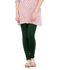 Softwear Bottle Green Cotton-Lycra Leggings