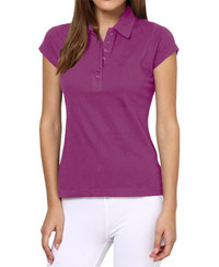 Softwear Classy Purple 7-Button Collared T-Shirt