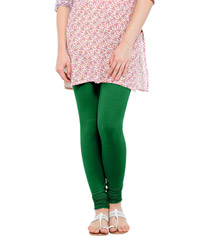 Softwear Dark Green Cotton-Lycra Leggings