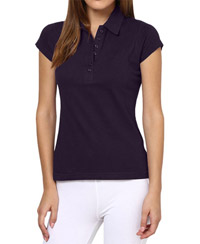 Softwear Dark Purple 7-Button Collared T-Shirt