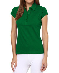 Softwear Green 7-Button Collared T-Shirt
