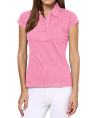 Softwear Light Pink 7-Button Collared T-Shirt