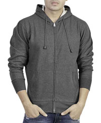 Softwear Mens Andhra Melange Plain Hoodies