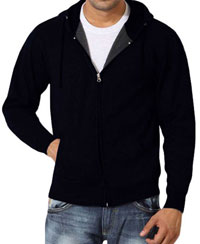 Softwear Mens Navy Plain Hoodies With Round Neck T-Shirt