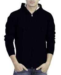 Softwear Mens Navy Plain Hoodies