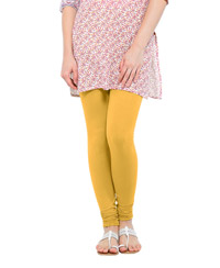 Softwear Mustard Cotton-Lycra Legging