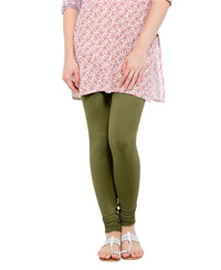 Softwear Olive Green Cotton-Lycra Legging