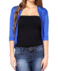 Softwear Royal Blue Viscose Shrug