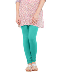 Softwear Turquoise Green Cotton-Lycra Legging