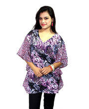 Vivaa  Pink and Black Printed Georgette Kaftan