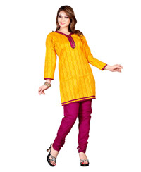Zoom Exclusive gold Cotton Kurti 2805
